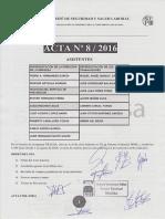 Acta 8/2016 Comité de Seguridad y Salud Laboral Tragsa UT 2 CV