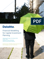 INVITATION Financial Modelling for Capital Investment Planning