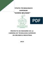 Proyecto Curricular de Rediseño Mecanica Industrial