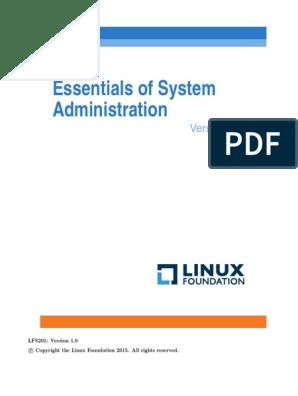 LFS201 LABS_SOLUTIONS pdf | File System | Unix