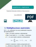 Metodos Estadisticos y Algebraicos