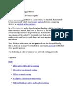 List of Adhoc Routing