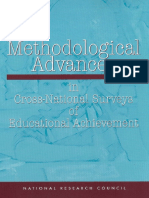 National Research Council 2000 Methodological Advances in Cross-National Surveys of Educational Achievement