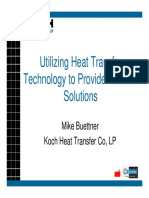 Utilizing Heat Transfer Technology to Provide Process Solutions