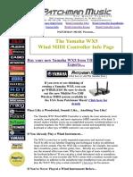 Patchman Yamaha WX5 Wind Controller