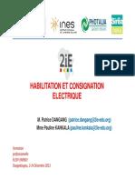 Habilitation Et Consignation Électrique 2014-01-08