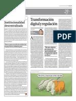 Transformación digital y regulación por Óscar Montezuma