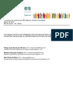 1 SEDRES - A Atuação Política Na Formação Dos Estados de MS e Do to e o Movimento Separatista No Pará