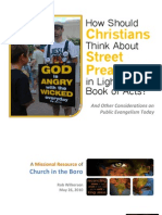How Should Christians Think About Street Preaching in Light of the Book of Acts