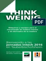 Guia jornadas Weinig Intech 2016 Tauberbischufshaim