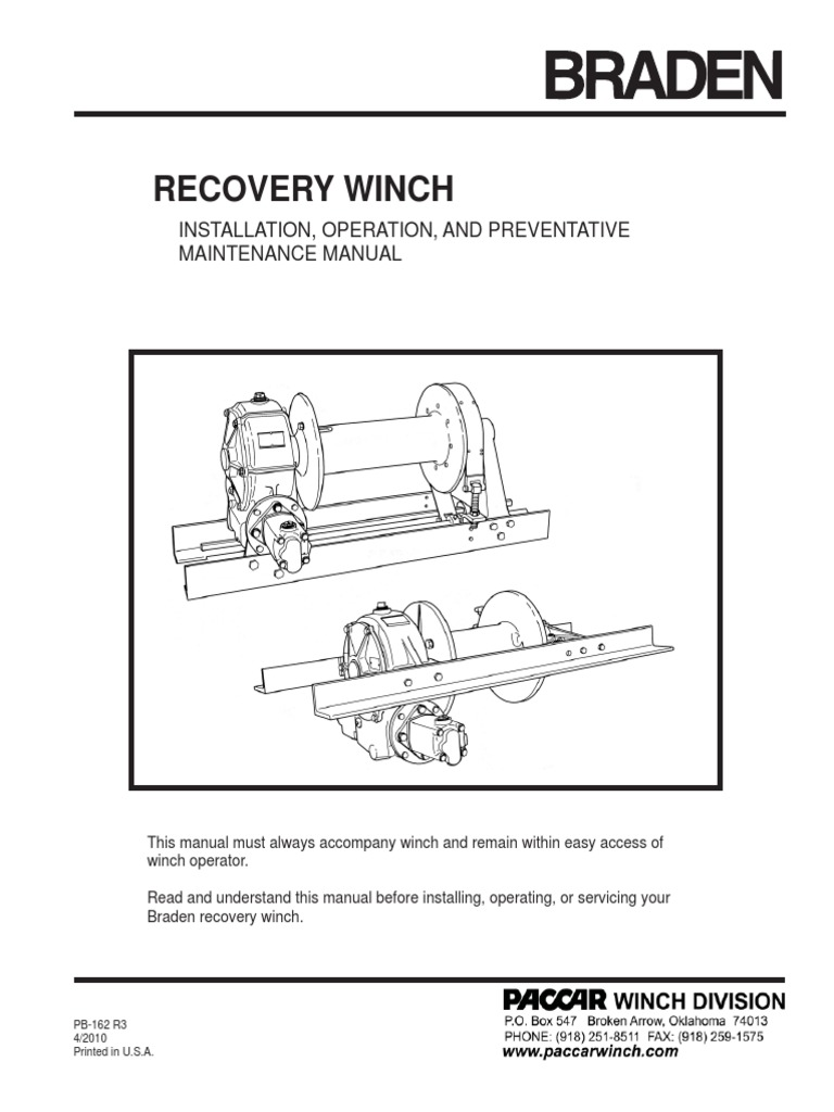 pb162 r3 recovery winch service 4 2010 clutch transmission rh fr scribd com