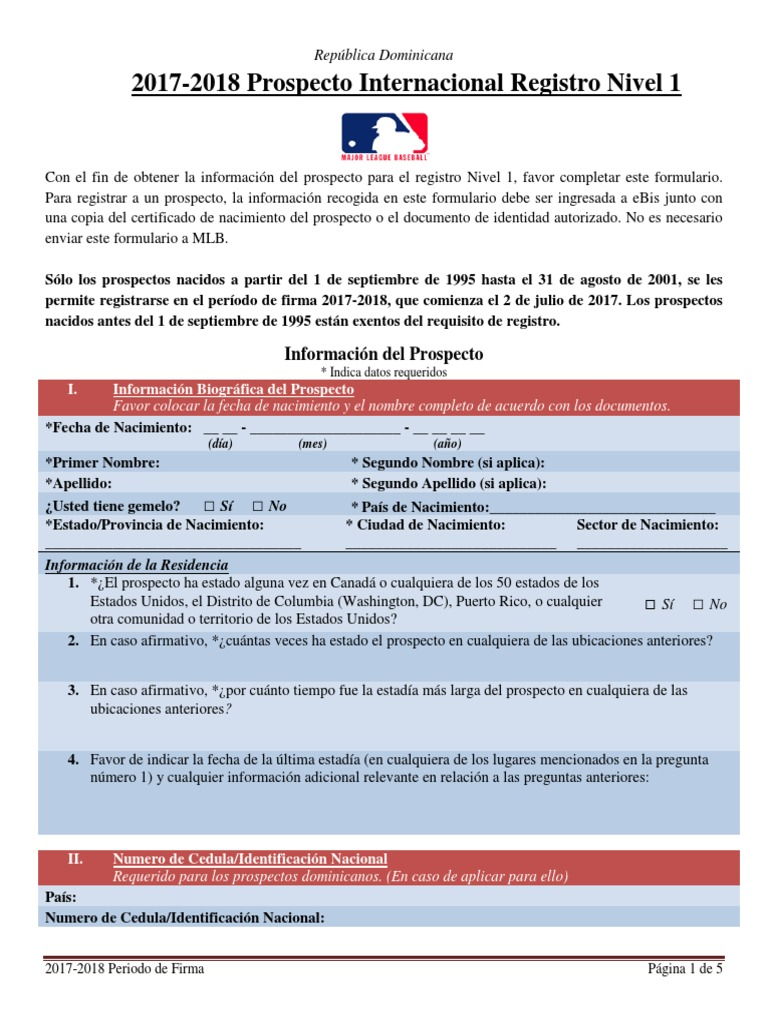 2017-2018 DR Level 1 Consent Form MAYOR LIGUE- Spanish