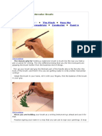 How to Hold a Watercolor Brush