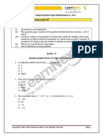 CBSE Class 10 Maths SA1 Sample Paper 2