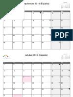España Septiembre 2016 - Noviembre 2016