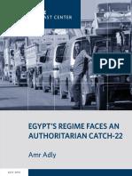 Egypt's Regime Faces an Authoritarian Catch-22