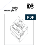 X77 Fusion Splicer Operating Instructions