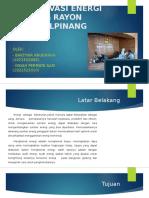 Konservasi Energi Gedung Rayon Pangkalpinang