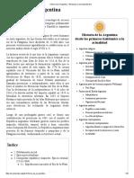 Historia de La Argentina - Wikipedia, La Enciclopedia Libre