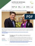 Boletín de noticias KLR 09SEP2016