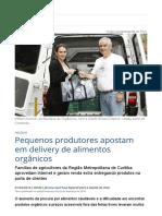 Pequenos produtores apostam em delivery de alimentos orgânicos _ Economia _ Gazeta do Povo