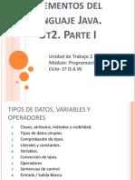 PROUT2_1 Elementos Del Lenguaje Java