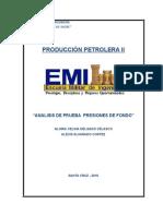 Presiones de Fondo (Produccion)