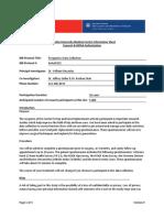 Prospective Database Information Sheet With Logos