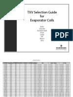 TXV Selection Guide