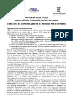 Obblighi Comunicazione Legge Finanziaria 2007