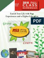 ASU LLL Fall 2016 Class Schedule