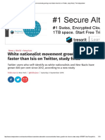 White Nationalist Movement Growing Much Faster Than Isis on Twitter, Study Finds _ the Independent