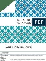 Tablas de Fármacos Farmacologia General