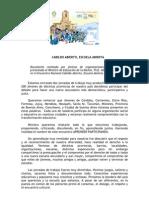 Documento Jóvenes - Cabildo Abierto, Escuela Abierta