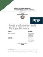 Areas y Volumenes en La Geologia Petrolera