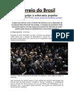 Resistir Ao Golpe à Soberania Popular - Correio Do Brasil