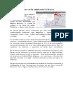 Resumen de La Batalla de Pichincha Nini