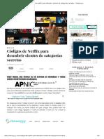 Codigos Netfilx