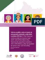 Informe Preliminar - Presupuestos asignados a Planes Nacionales para luchas contra la violencia contra las mujeres