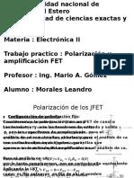 Transistores de Efecto Campo - Polarizacion y Amplificacion