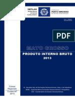 Contas Regionais - Relatório PIB MT 2013 - Completo