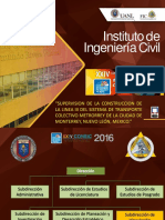 3. Dr. ADRIÁN FERRIÑO FIERRO Supervición de Construcción de Línea III Colectivo MONTERREY