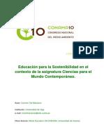 Educacion Para La Sostenibilidad Mundo Contemporaneo