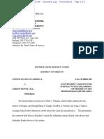 09-09-2016 ECF 1229 USA v a BUNDY Et Al - USA Motion for Judicial Notice Regarding Ownership of the MNWR Headquarters Area