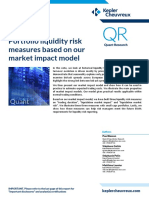 Portfolio liquidity risk measures based on our market impact model - Paul Besson, Stéphane Galzin, Stéphanie Pelin, Matthieu Lasnier. Kepler Cheuvreux, 2013.