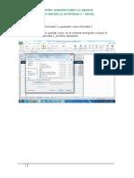 Como Hacer La Actividad 3- Excel
