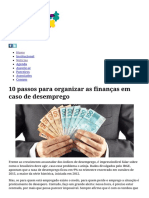 10 Passos Para Organizar as Finanças Em Caso de Desemprego