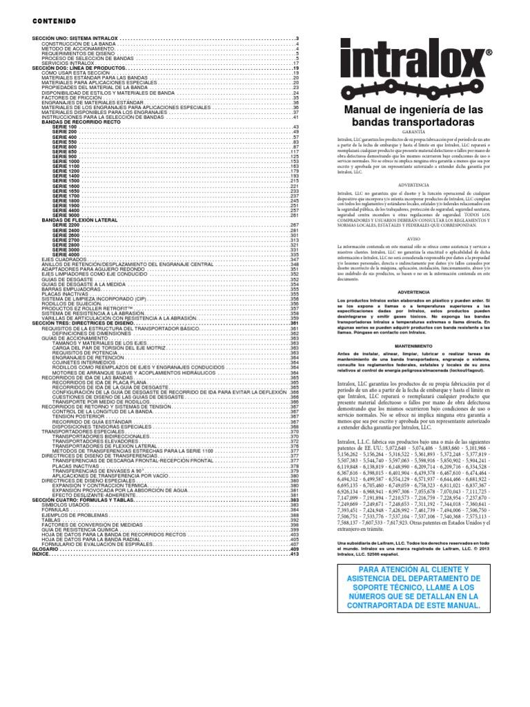 Manual de ingeniería de las bandas transportadoras by