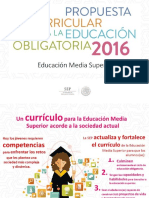 Propuesta Curricular. Educación Media Superior