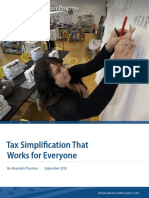 Tax Simplification That Works for Everyone